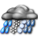 Partly Cloudy with Light Wintry Mix